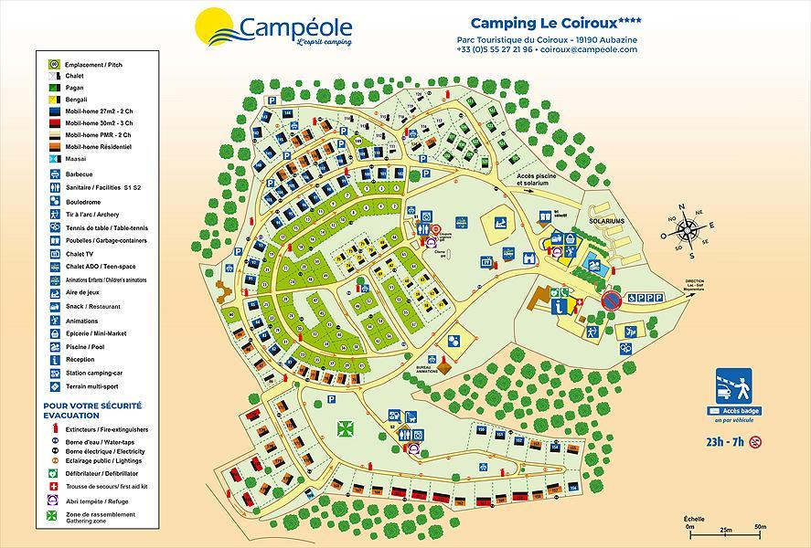 Consulter le plan du camping