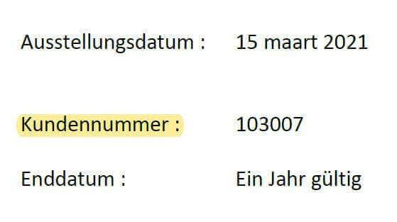 Sie finden diese Nummer unter dem Ausgabedatum.